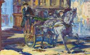 Jack Butler Yeats - The Hackney Car