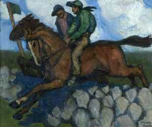Jack Butler Yeats - Untitled (Two Jockeys on ..