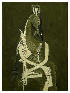 Wifredo Lam - Seated Woman