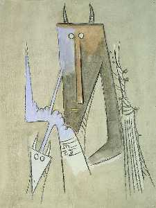 Wifredo Lam - Two Heads