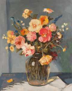George Telfer Bear - Summer Flowers
