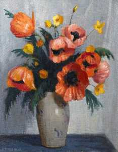 George Telfer Bear - Poppies