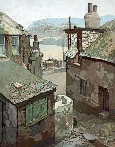Thomas Maidment - Old Houses, St Ives, Corn..