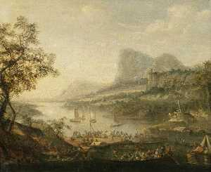 Robert Griffier - Landscape with a River an..