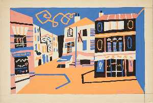 Stuart Davis - West Indian Street