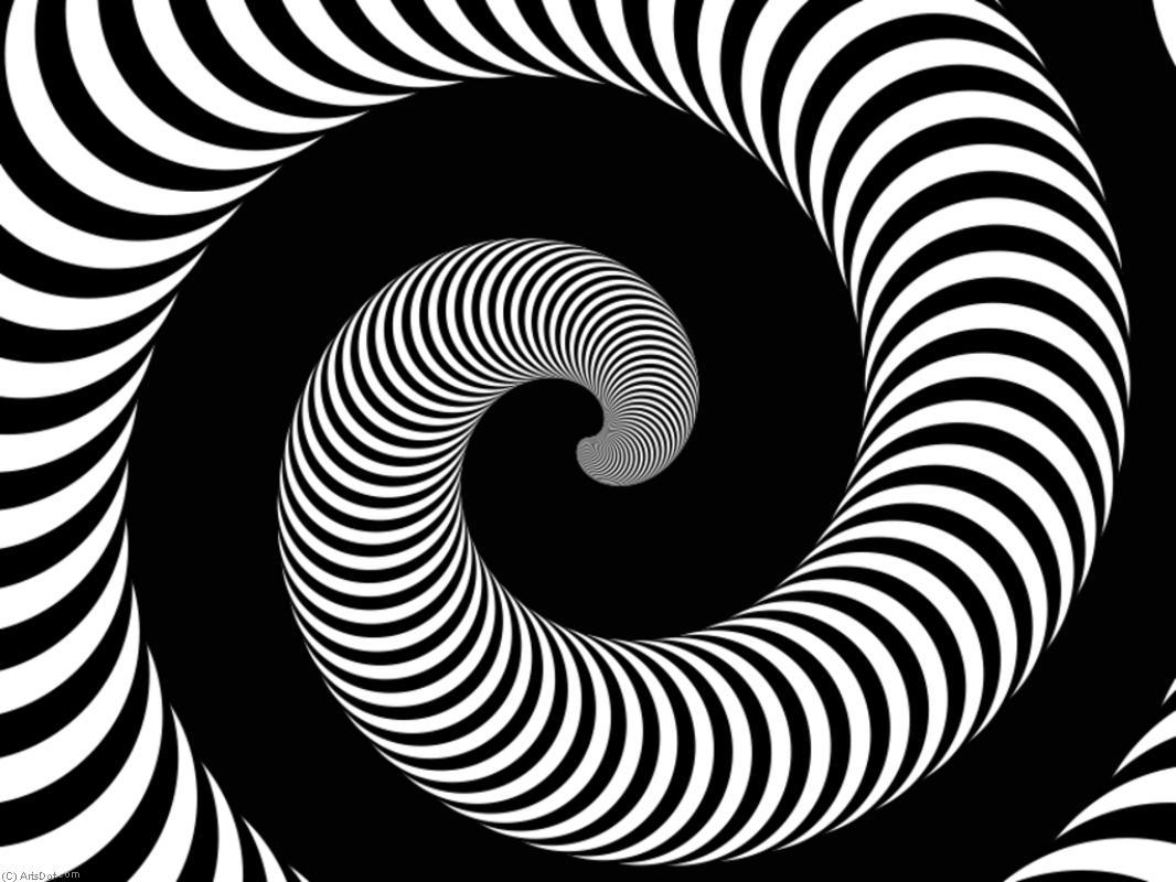 Картинки узоры черно-белые спиралевидные