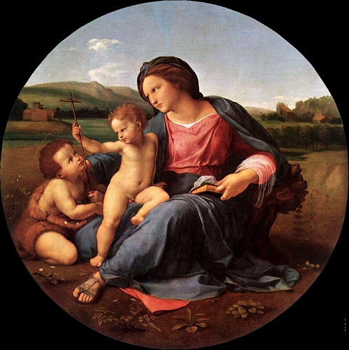 raphael and the alba madonna Who is raphael raffaello sanzio da urbino (1483-1520) was a painter and architect in 1508 raphael moved to rome to paint for pope julius ii before that, he had.