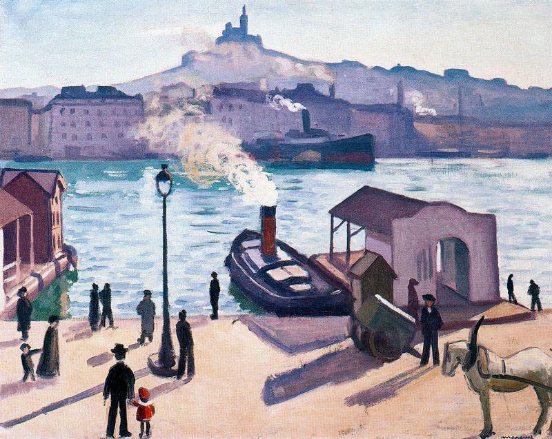 Caballo en Marsella, óleo de Albert Marquet (1875-1947, France)