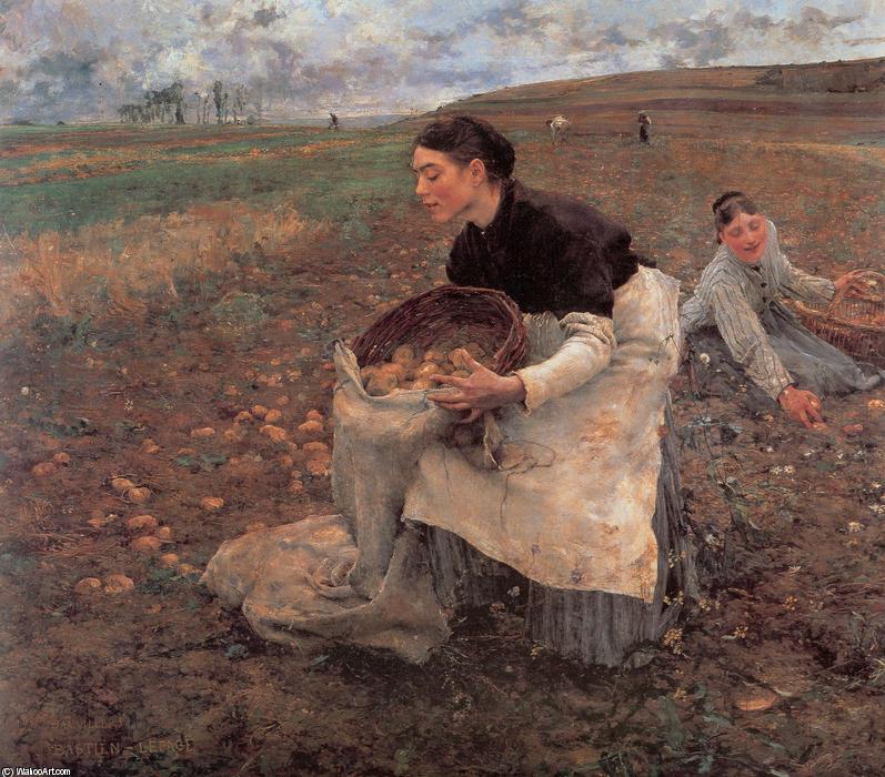 Saison d octobre r colte des pommes de terre huile de jules bastien lepage 1848 1884 france - Recolte des pommes de terre ...