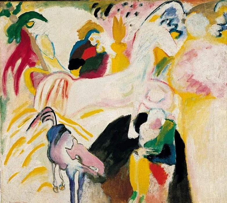 caballos, aceite de Wassily Kandinsky (1866-1944, Russia)