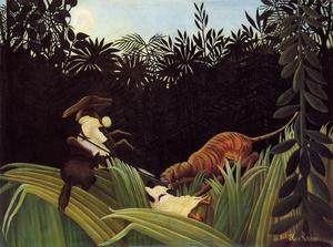 Henri Emilien Rousseau - Scout Attacked by a Tiger