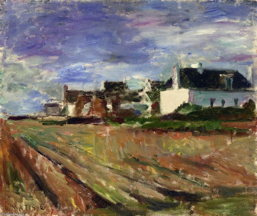 Granjas en Bretaña Beldad Isla , óleo sobre lienzo de Henri Matisse ...