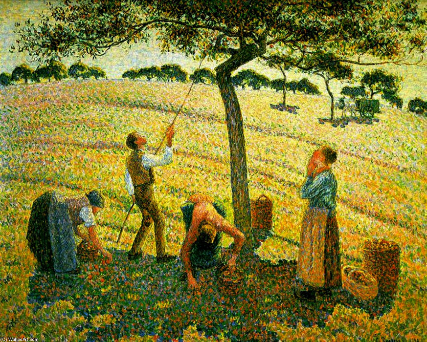 Apple Picking At Eragny Sur Epte Oil On Canvas By Camille Pissarro 1830 1903 United States