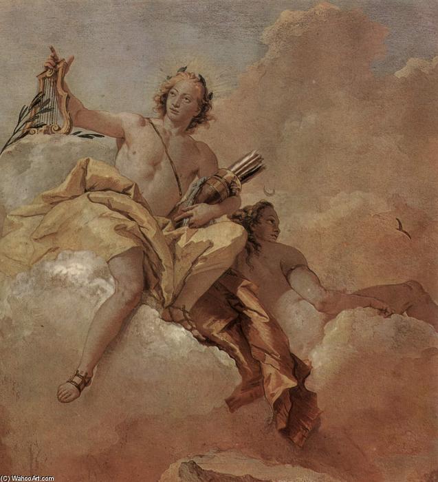 Resultado de imagem para Apolo e Diana, em afresco de Giovanni Battista (1757)