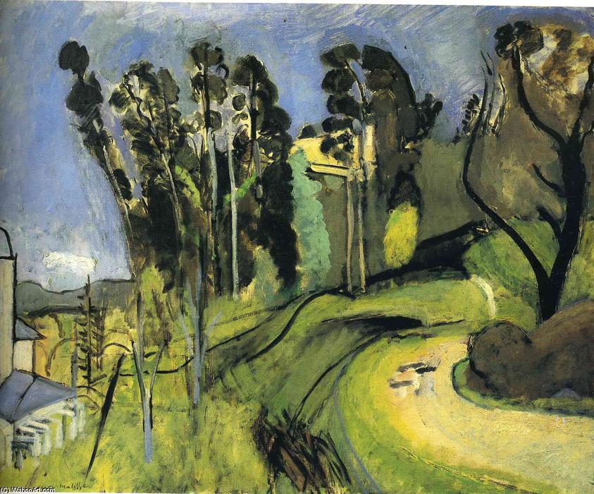 Montalbán paisaje del , óleo sobre lienzo de Henri Matisse (1869 ...