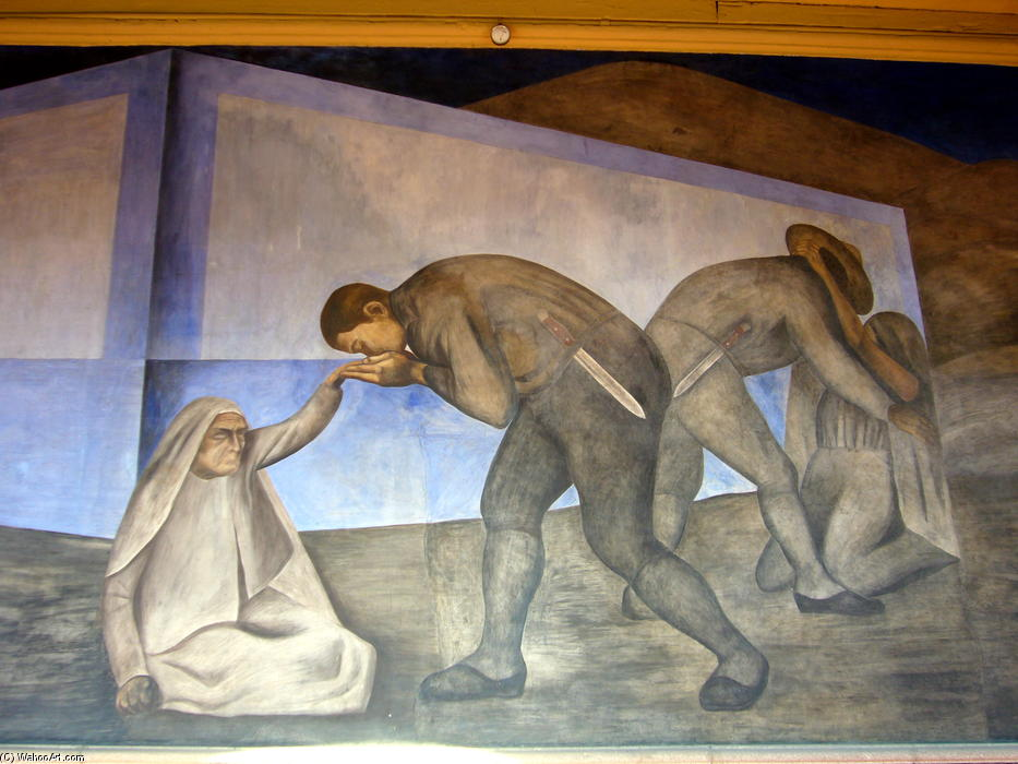 Farewell, Frescoes by Jose Clemente Orozco (1883-1949, Mexico)