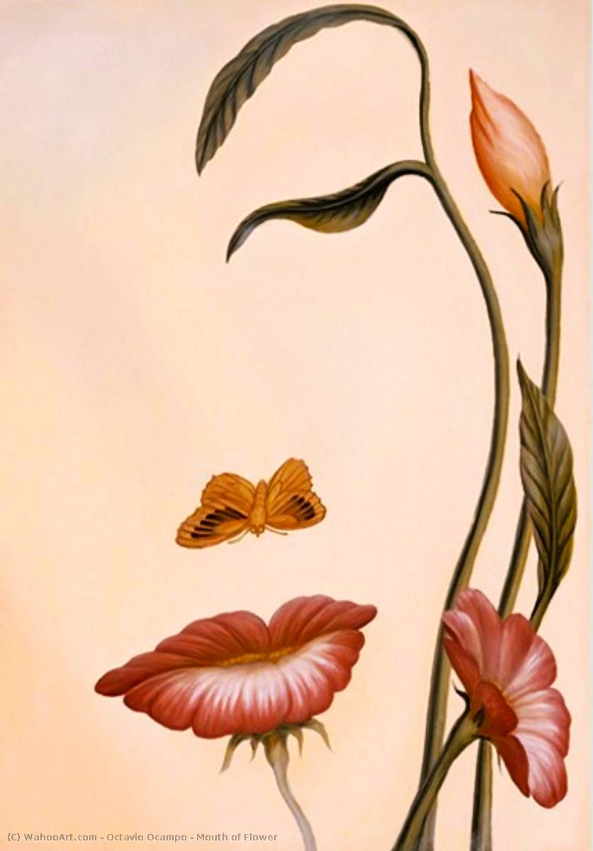 octavio ocampo mouth of flower print