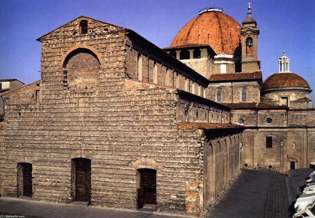 Fachada de filippo brunelleschi 1377 1446 italy for Interior iglesia san lorenzo brunelleschi