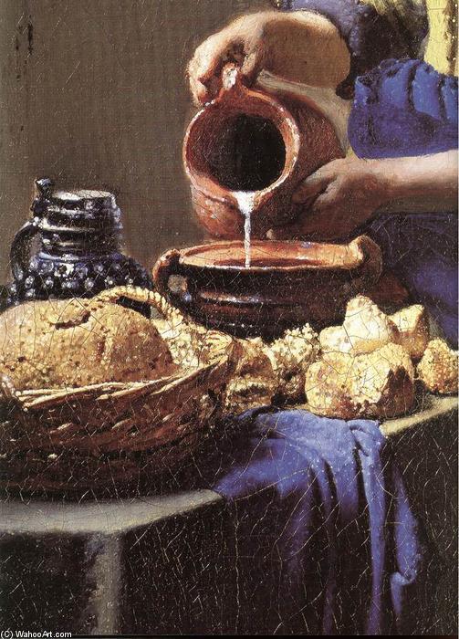 La lechera detalle 10 leo sobre lienzo de jan - La lechera de vermeer ...