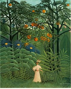 Henri Emilien Rousseau - Woman Walking in an Exoti..