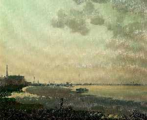 Clive Richard Browne - Low Tide on the Humber